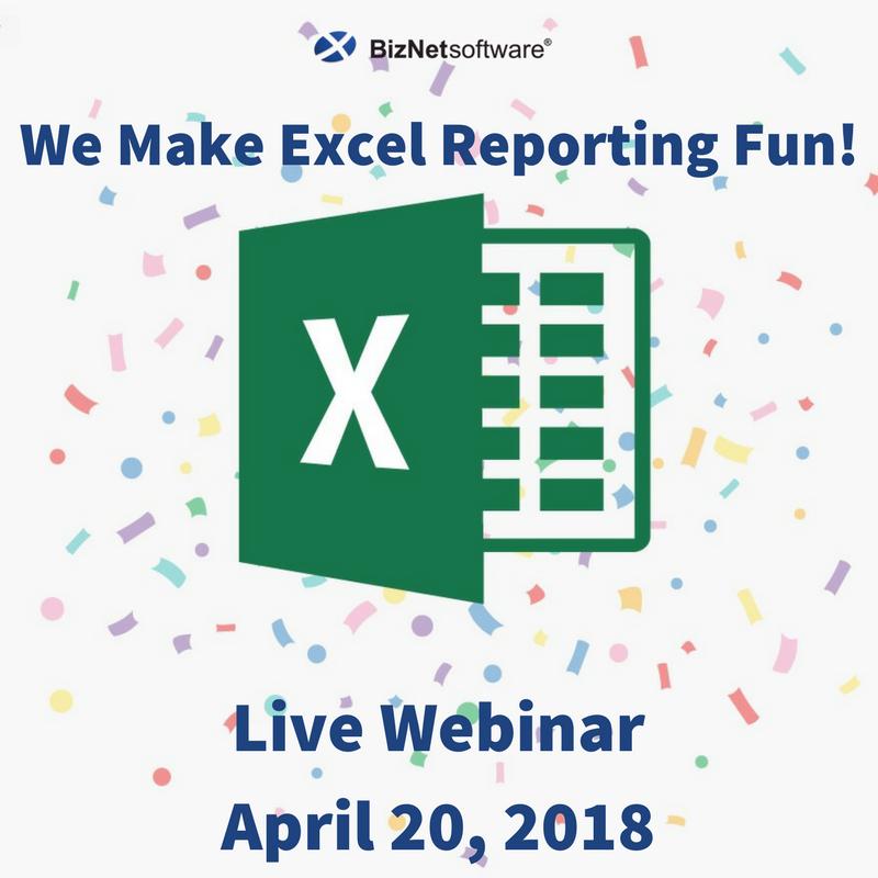 BizNet Software: We Make Excel Reporting Fun